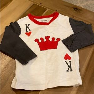 Baby gap king of hearts long sleeve shirt